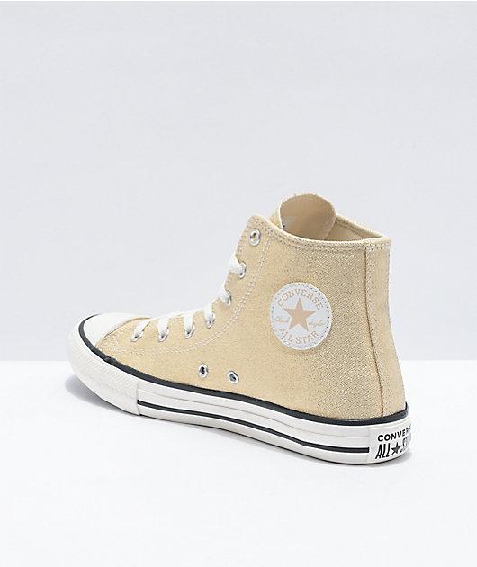 Converse CTAS Egret, Black & White High Top Shoes