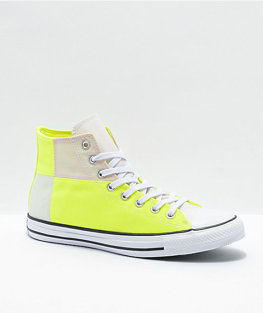Converse CTAS Hi UV Lemon Venom & White High Top Shoes