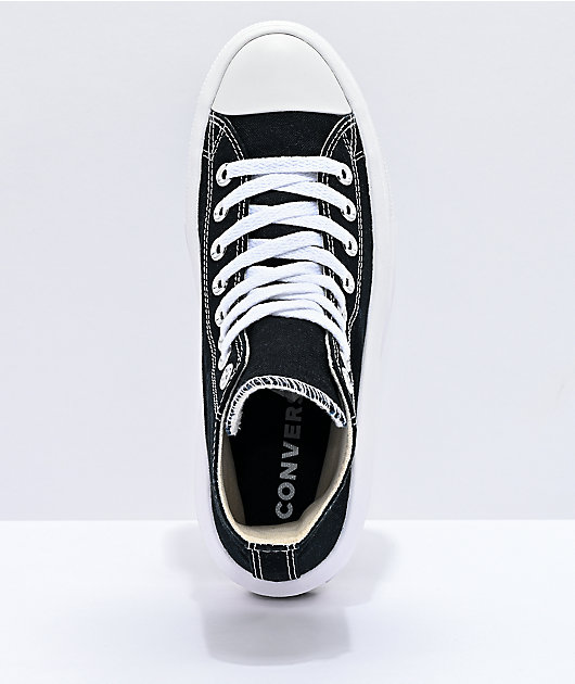 Converse CTAS Move Hi Black & White Platform Shoes