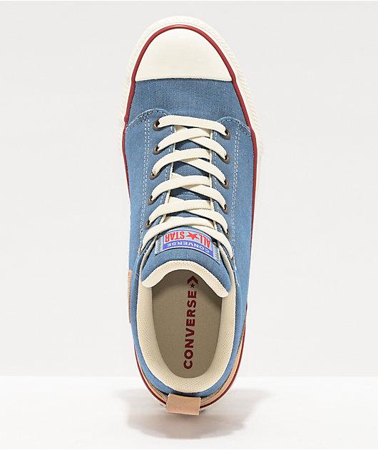 Converse CTAS Ollie Mid Slate Blue Shoes