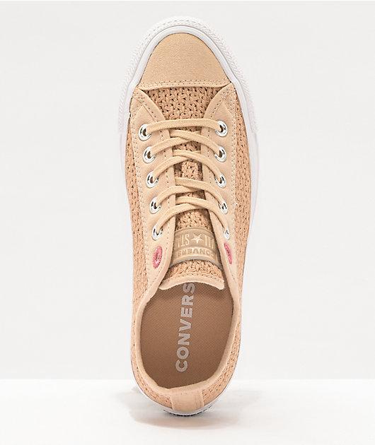 Converse CTAS Ox Shimmer & Madder Pink Shoes