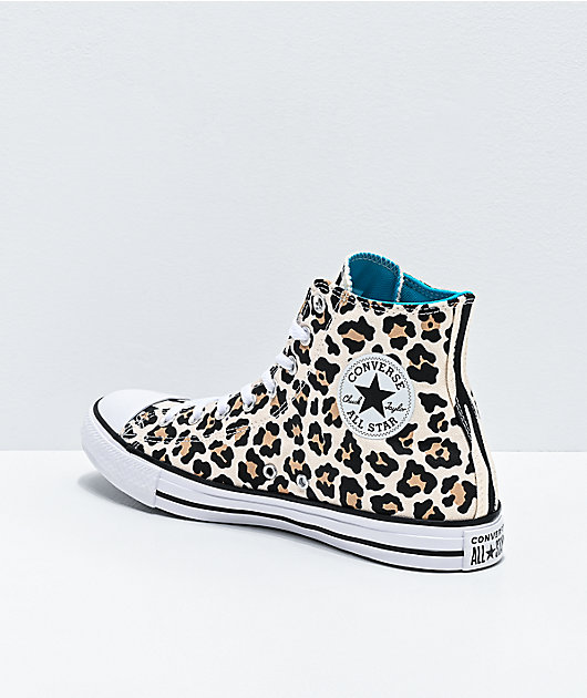 Converse Chuck Taylor All Star Hi Driftwood, Black and Light Fawn Shoes