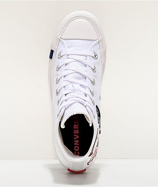 Converse Chuck Taylor All Star Hi Multi Logo zapatos blancos