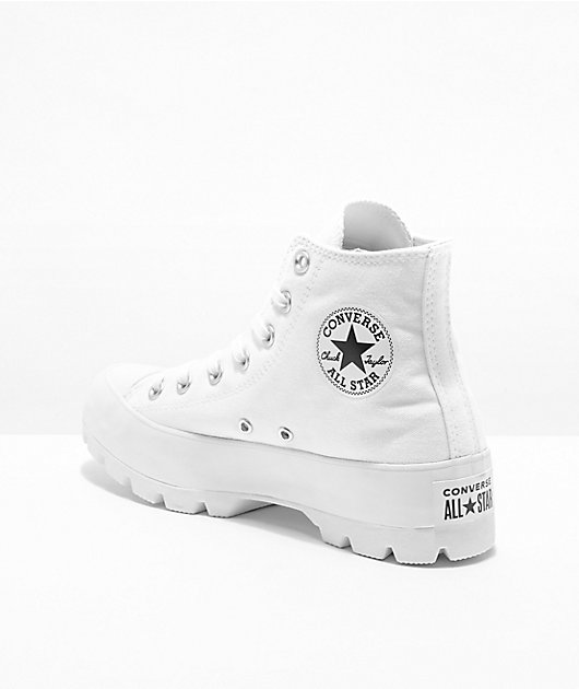 Converse Chuck Taylor All Star Lugged White High Top Shoes