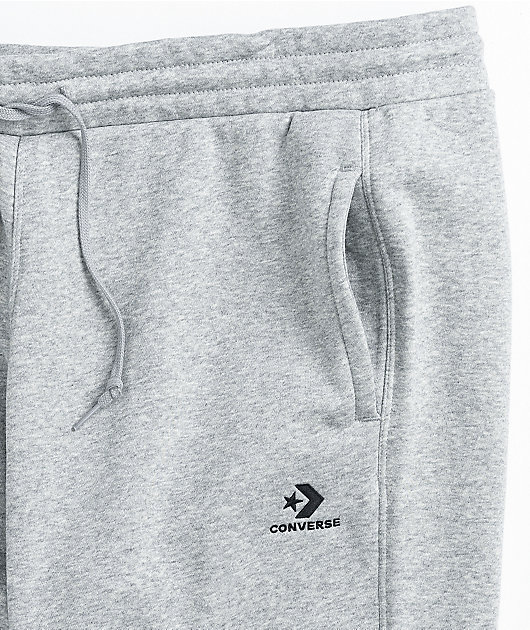 Converse Embroidered Star Grey Jogger Sweatpants