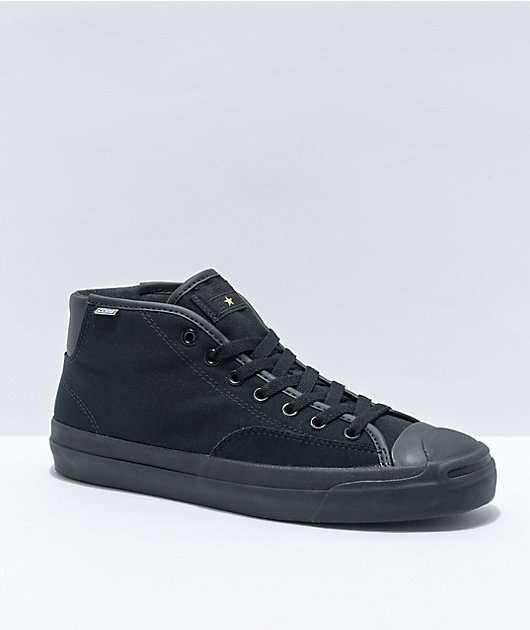 Converse Jack Purcell Pro Mid Black Skate Shoes