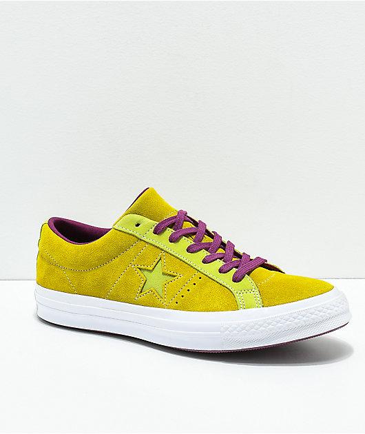 Converse One Star Apple Green \u0026 Purple