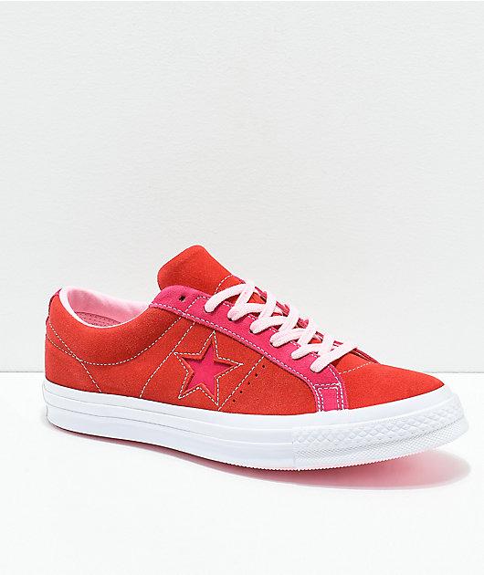 Converse One Star Enamel Red \u0026 Pink Pop