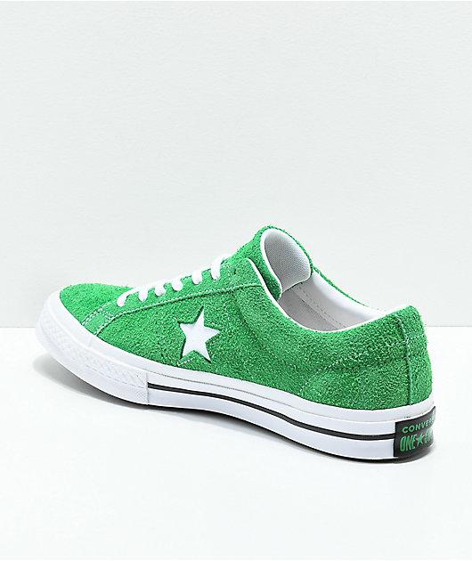 Converse One Star Green, White \u0026 Black