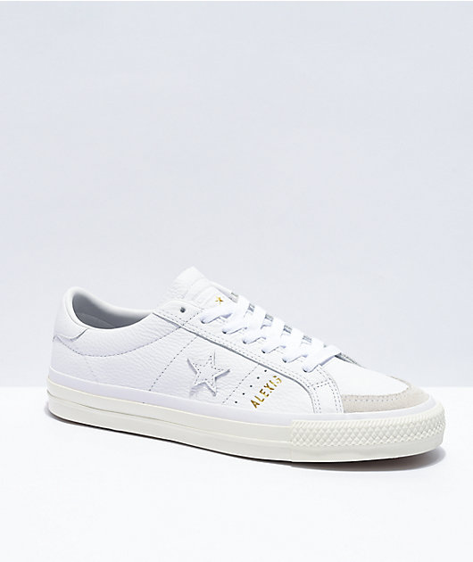 Converse One Star Pro Alexis A52 White Skate Shoes
