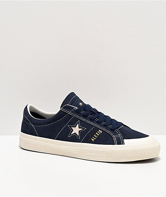 Converse One Star Pro Alexis Sablone Court Blue & White Skate Shoes