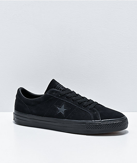 Converse One Star Pro Black Suede Skate Shoes
