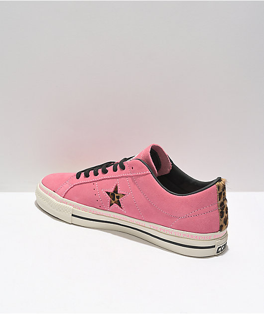 Converse One Star Pro Sean Pablo Pink Suede Skate Shoes