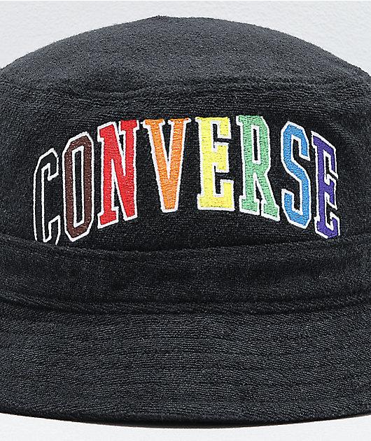 Converse Pride Black Bucket Hat