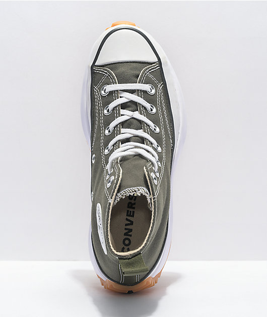 Converse Run Star Hike Olive High Top Shoes