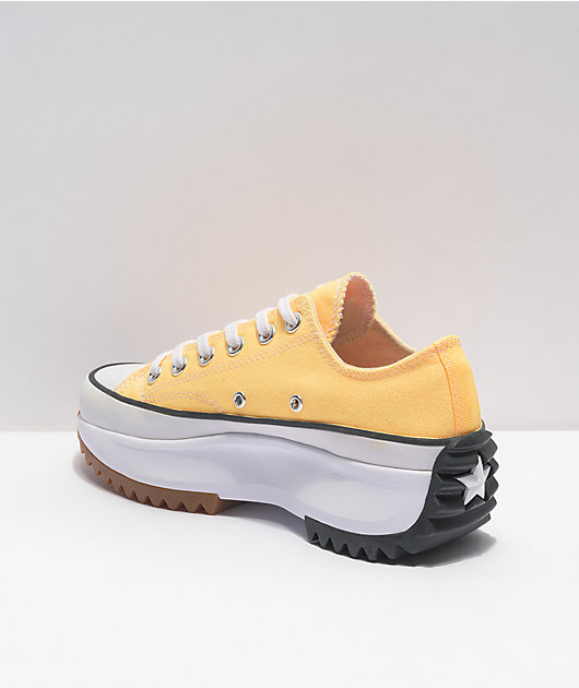 Converse Run Star Hike Oxford Yellow Platform Shoes