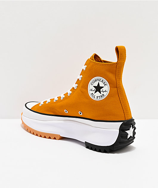 Converse Run Star Hike Saffron High Top Shoes