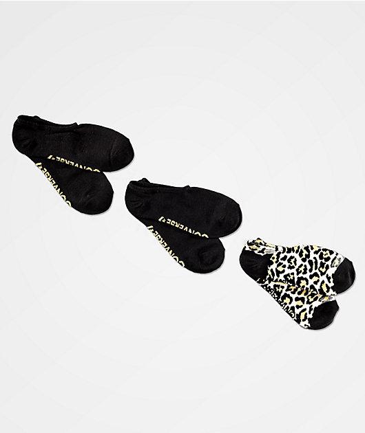 Converse paquete de 3 calcetines invisibles de guepardo