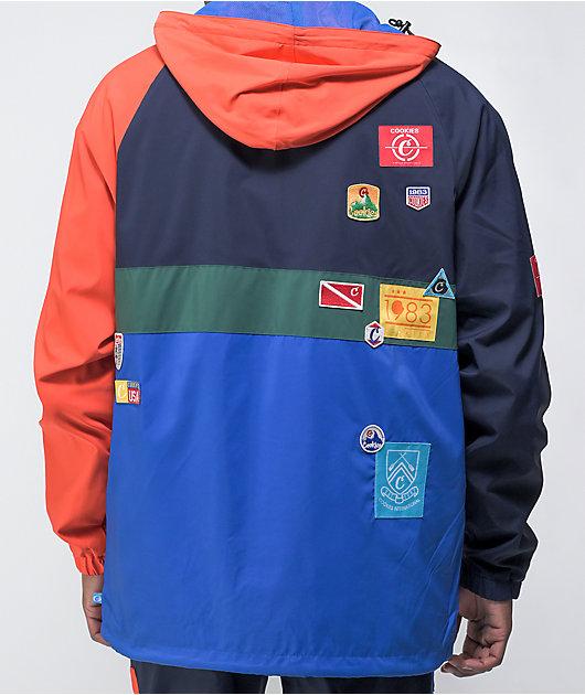 Cookies Colores Navy & Orange Windbreaker Jacket