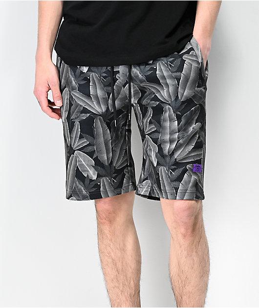 Cookies Emerald Triangle Charcoal Elastic Waist Shorts