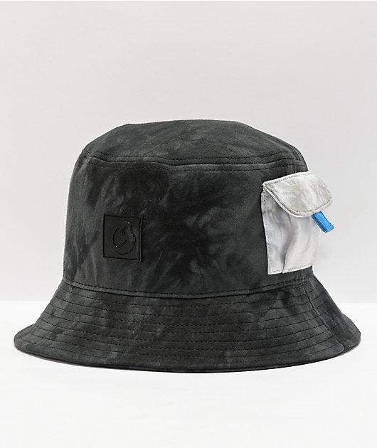 Cookies Mojave Black Tie Dye Bucket Hat