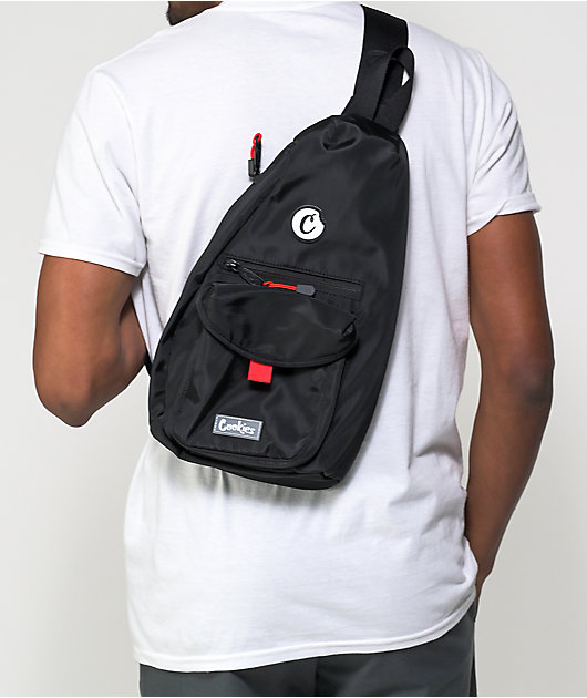 Cookies Traveler Smell Proof Black Shoulder Bag