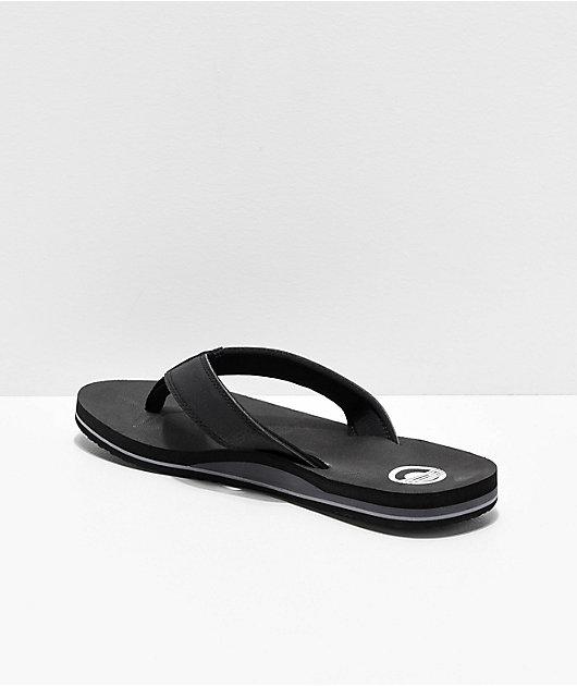 Cords Quarter Black Sandals