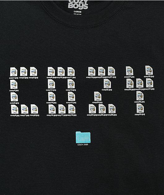 Cozy Boy Desktop Black T-Shirt