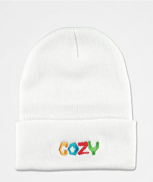 Cozy Boys White Beanie