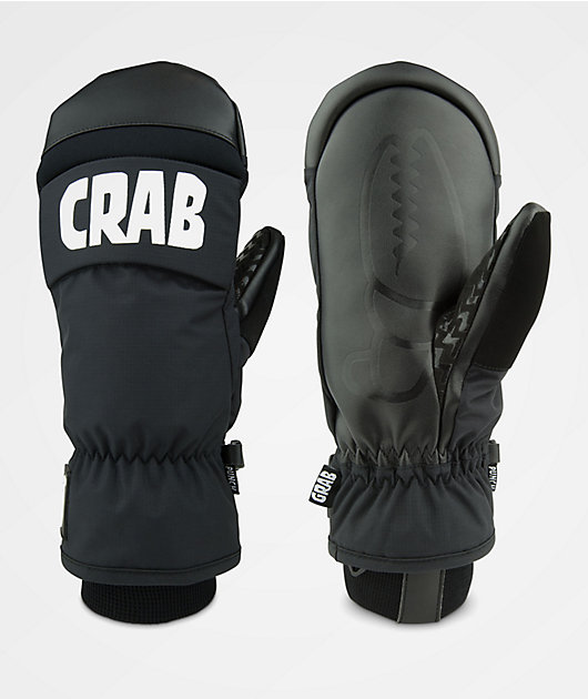 Crab Grab Micro Mitten Black Kinder Snowboard Ski Handschuhe Fäustling