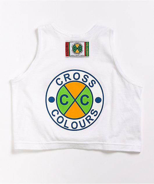 Cross Colours Circle Logo Recolor White Tank Top
