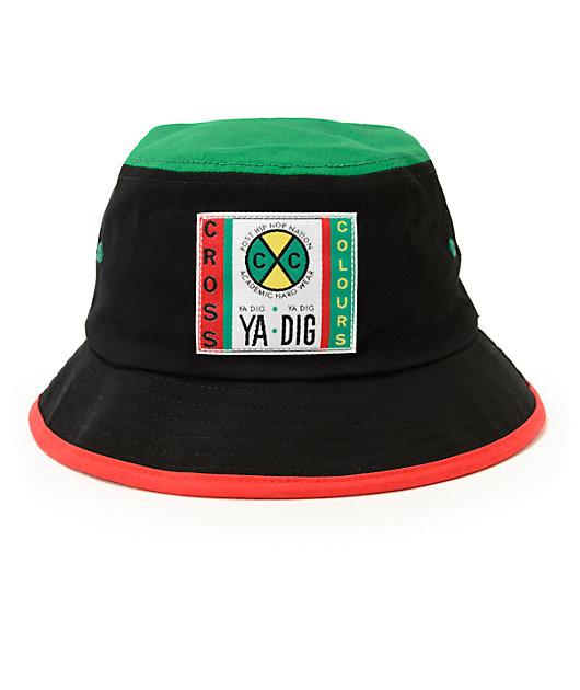 Cross Colours Color Block Bucket Hat