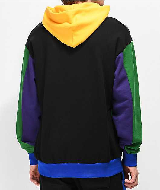 Cross Colours Colorblock Black Hoodie