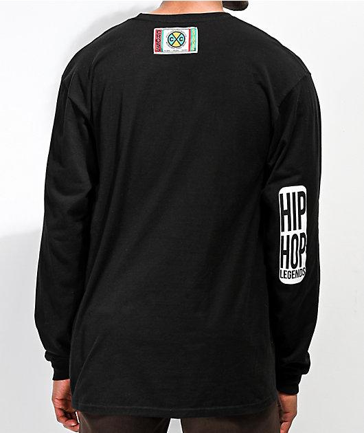 Cross Colours Eazy-E On The Mic Black Long Sleeve T-Shirt