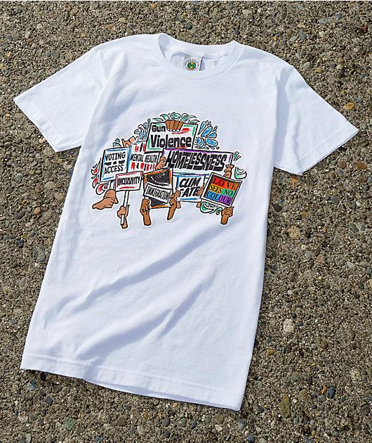 Cross Colours Go Vote White T-Shirt