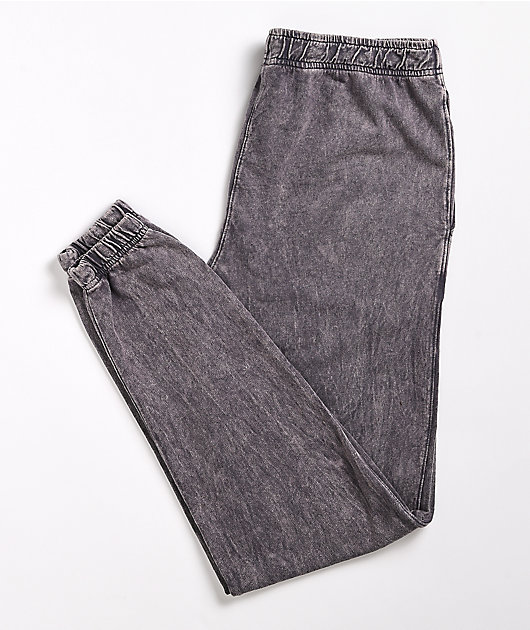 Cross Colours Livin' Phat Grey Wash Jogger Pants