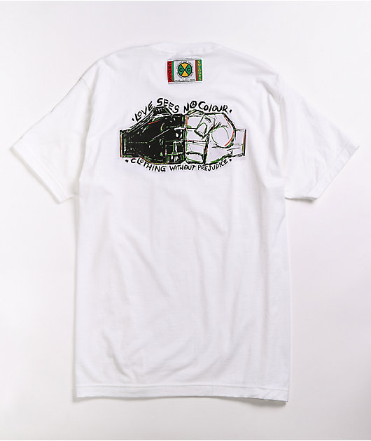 Cross Colours Love Sees No Colour White T-Shirt