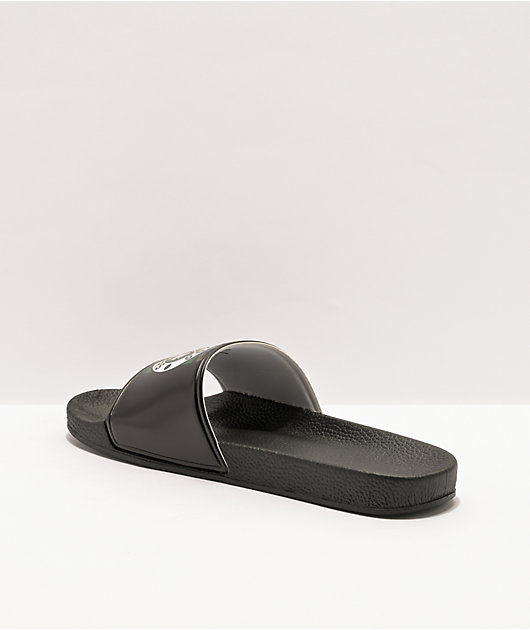 Cross Colours x Snoop Dogg Profile Black Slide Sandals