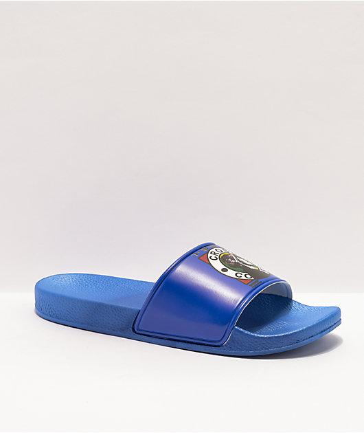 Cross Colours x Snoop Dogg Profile Blue Slide Sandals