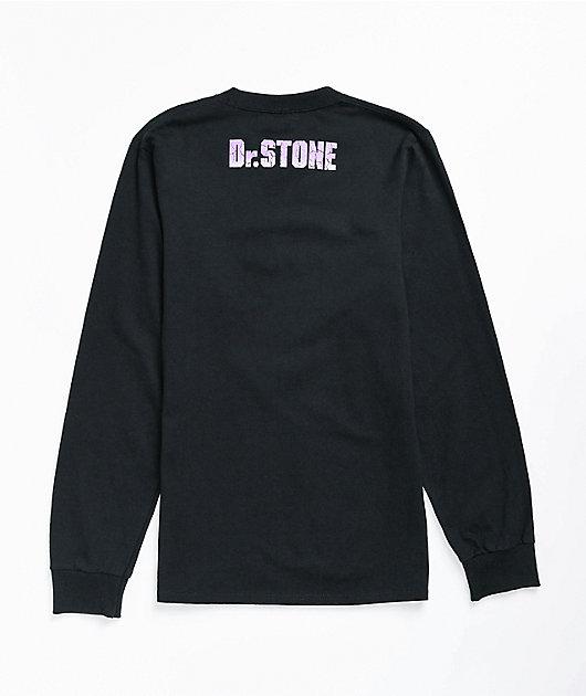 Crunchyroll x Dr. Stone Gen Black Long Sleeve T-Shirt