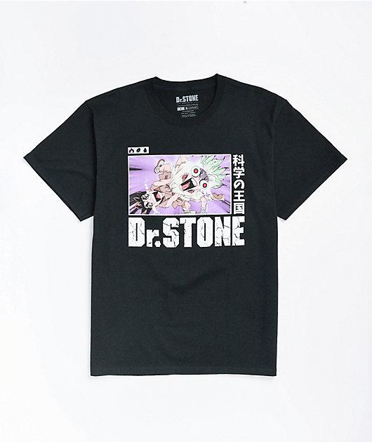 Crunchyroll x Dr. Stone Scream Black T-Shirt