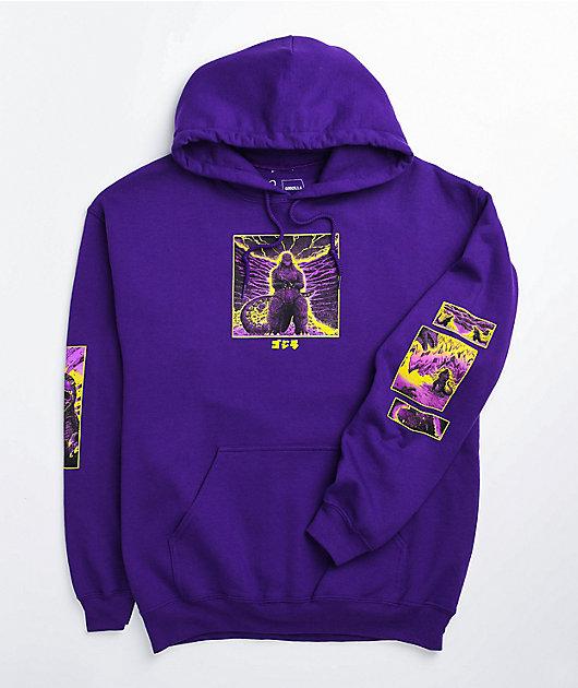 Crunchyroll x Godzilla In Hell Purple Hoodie