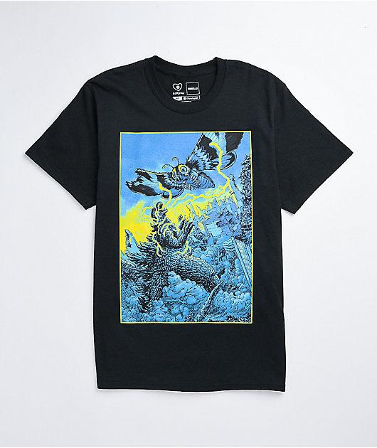 Crunchyroll x Godzilla Mothra Black T-Shirt
