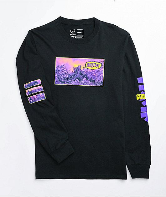 Crunchyroll x Godzilla Skreeonk Black Long Sleeve T-Shirt