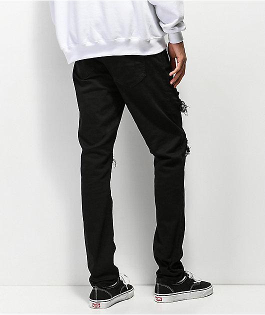 Crysp Chandler Checker Black Jeans