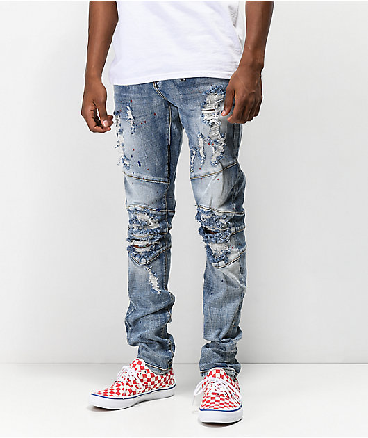 Crysp Montana Light Blue Mid Washed Jeans