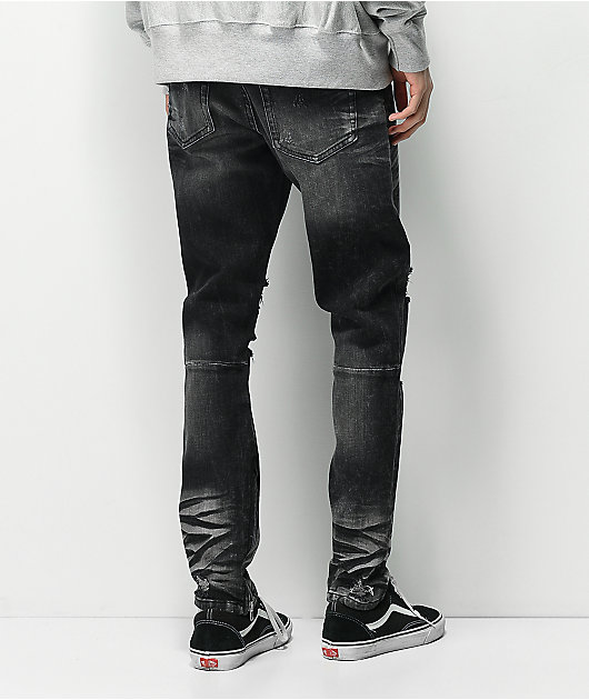 Crysp Pacific Black Wash Denim Skinny Jeans