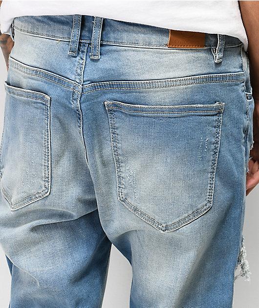 Crysp Serpens Polka Blue Tint Jeans