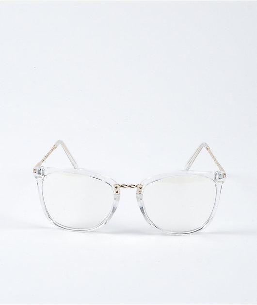 Crystal Clear & Pink Frame Blue Light Glasses