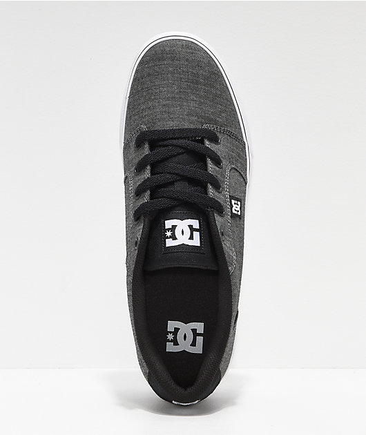 DC Anvil TX Black Resin & White Skate Shoes